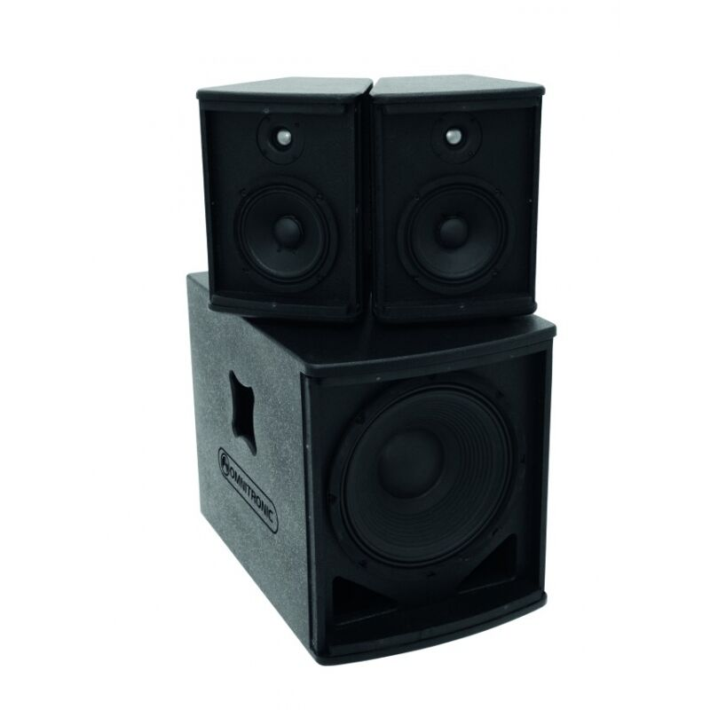 omnitronic as 500 aktiv system 500 w rms pa anlage 2x. Black Bedroom Furniture Sets. Home Design Ideas