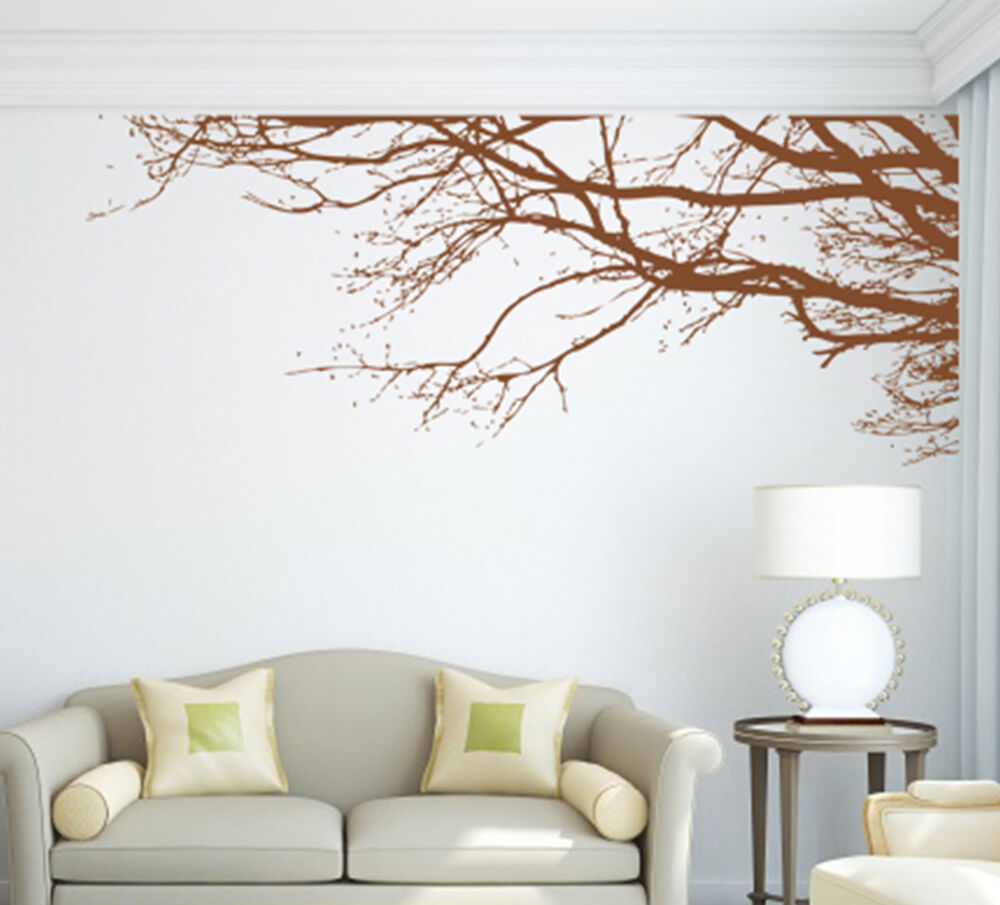 Large Tree Branch Art Vinyl Wall Transfer Sticker Diy