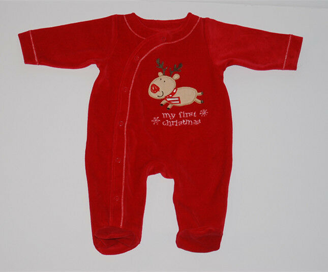 Baby infant newborn quot my first christmas quot long sleeves one piece body