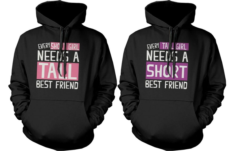 Cute BFF Matching Hoodie Sweatshirts for Tall and Short Best ...