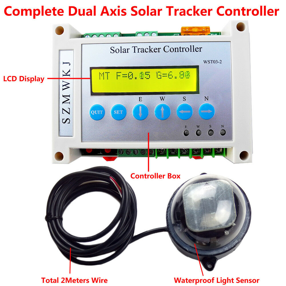 dual axis solar tacking tracker linear actuator controller. Black Bedroom Furniture Sets. Home Design Ideas