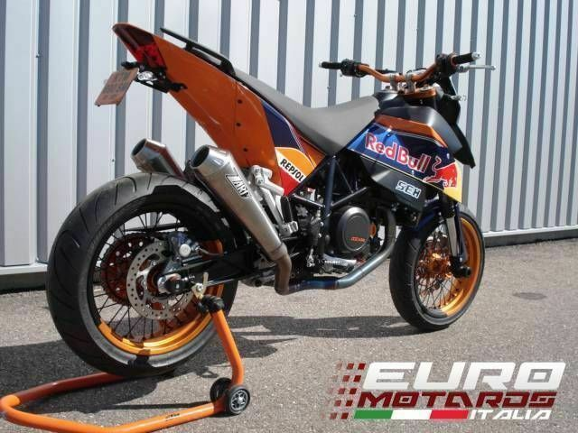 ktm 690 sm supermoto zard exhaust full 2 2 system with 2 conical silencers ebay. Black Bedroom Furniture Sets. Home Design Ideas
