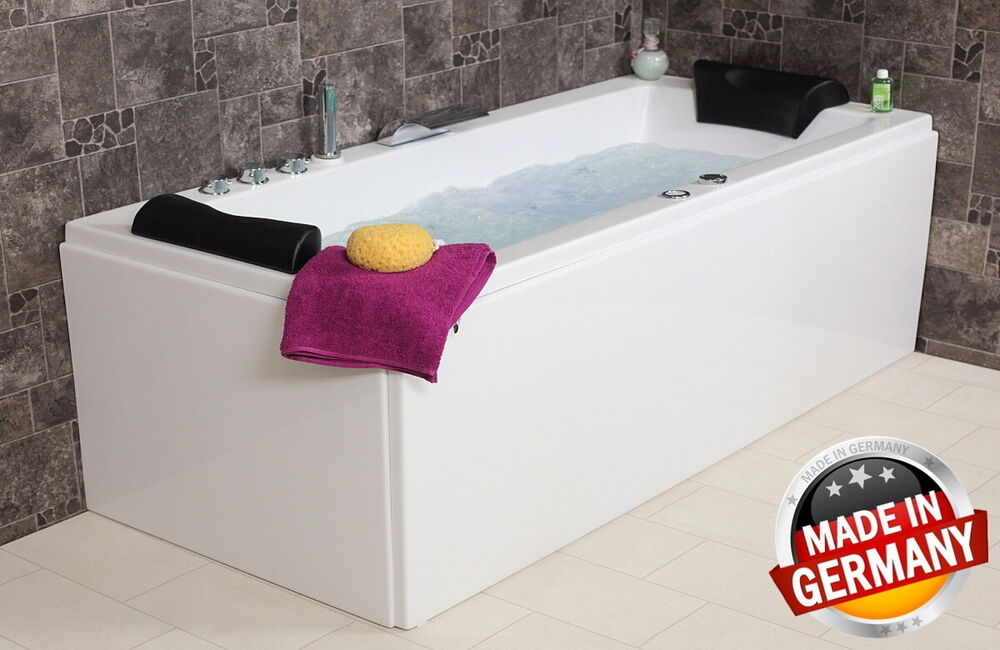 whirlpool eck badewanne rechts links mit 14 16 massage d sen led eckwanne ebay. Black Bedroom Furniture Sets. Home Design Ideas