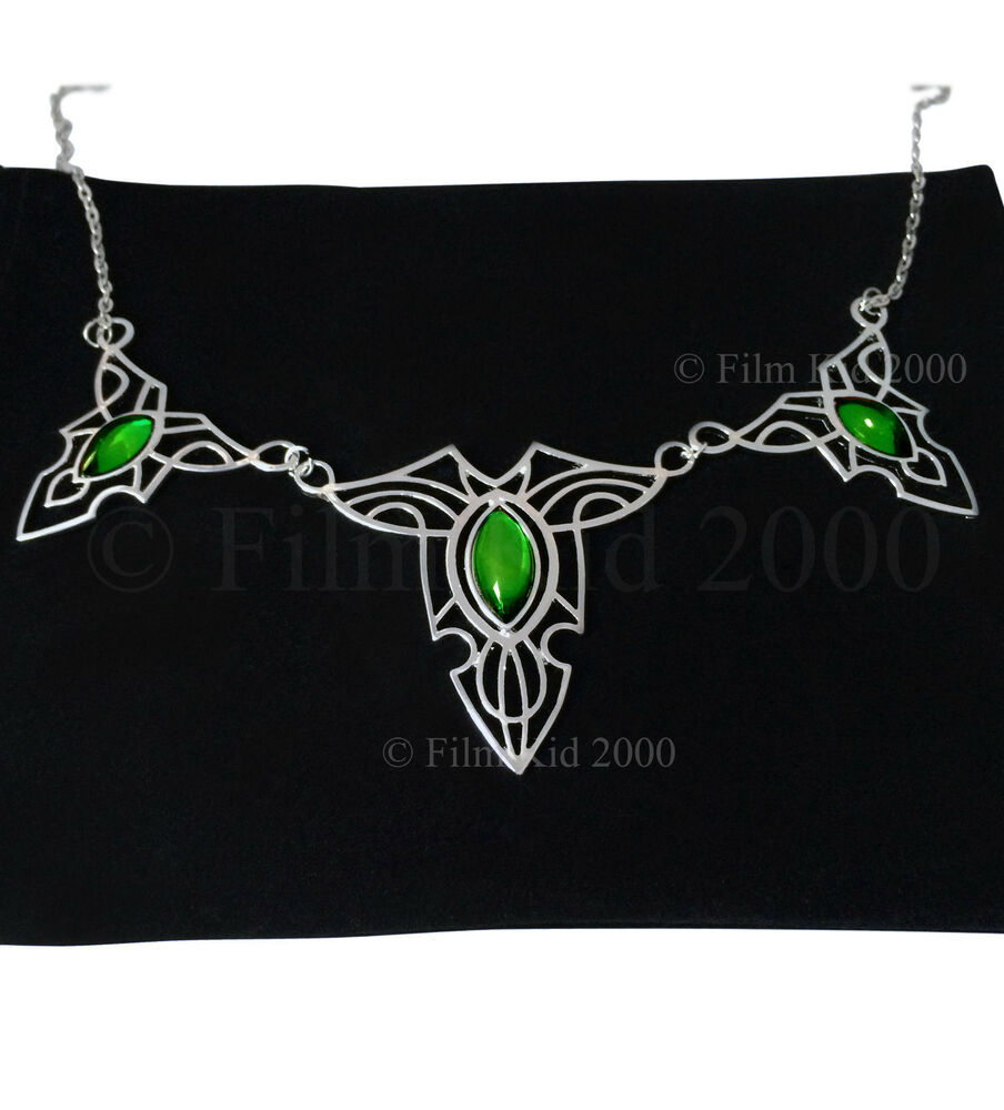 royal elven leaf brooch necklace special edition hobbit