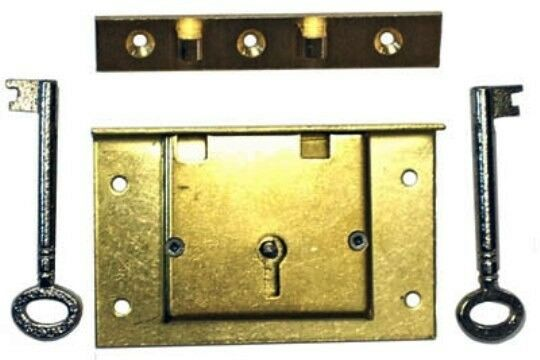 S 7e Brass Chest Lock W 2 Keys Strong Box Or Replacement