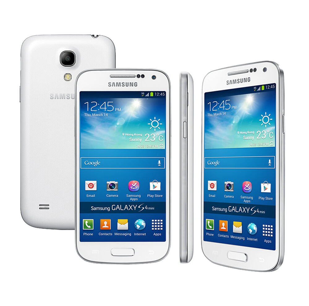 samsung galaxy s4 mini gt i9195 8gb 4g lte factory unlocked cell phone white 8806085719118 ebay. Black Bedroom Furniture Sets. Home Design Ideas