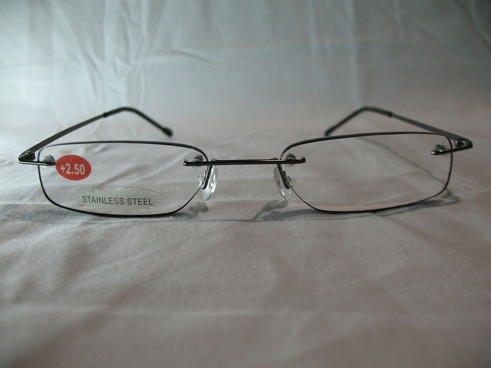 insight onyx rimless reading glasses 1 0 1 25 1 75 1 50 2