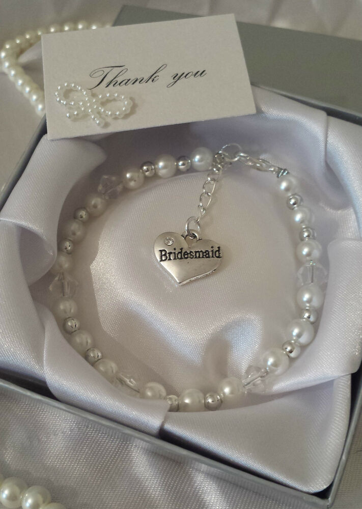 Perfect thank you gift charm bracelet wedding bridesmaid for Bride gifts from bridesmaid