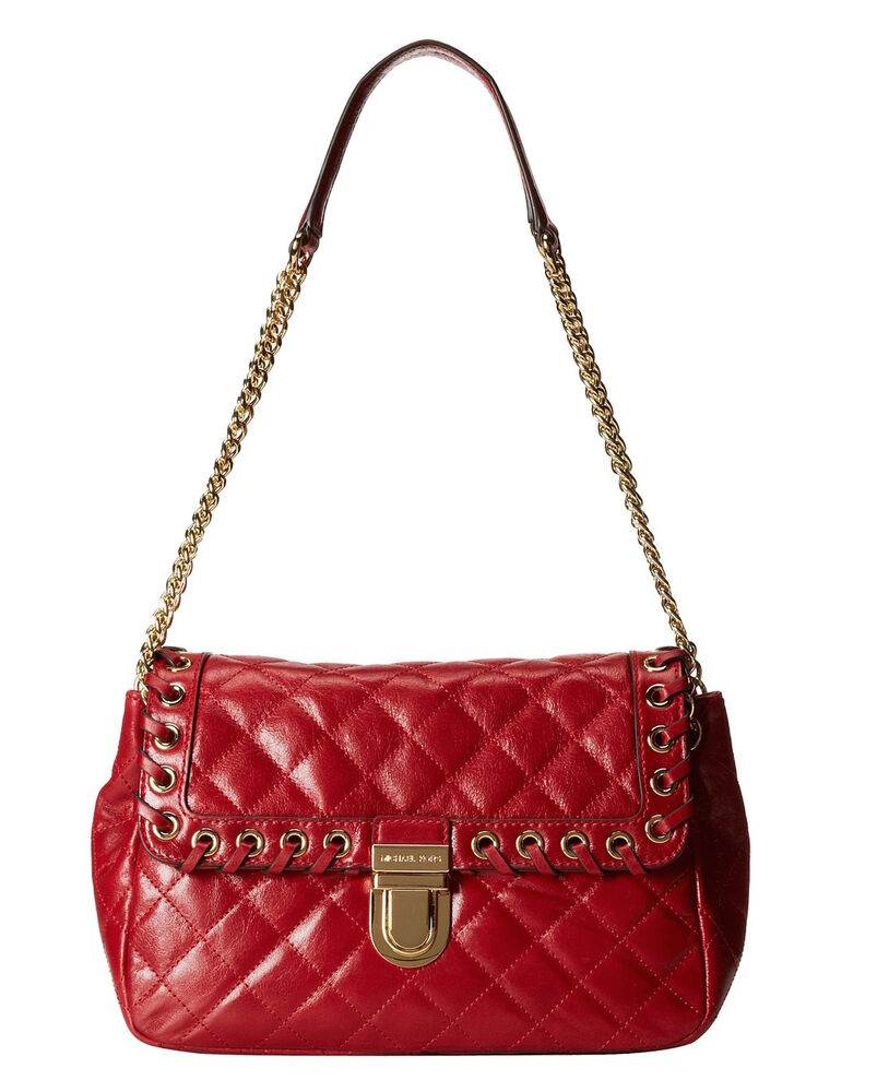 b4e3dd422441 Red Sloan Small Quilted-leather Shoulder Bag. MICHAEL MICHAEL KORS ...