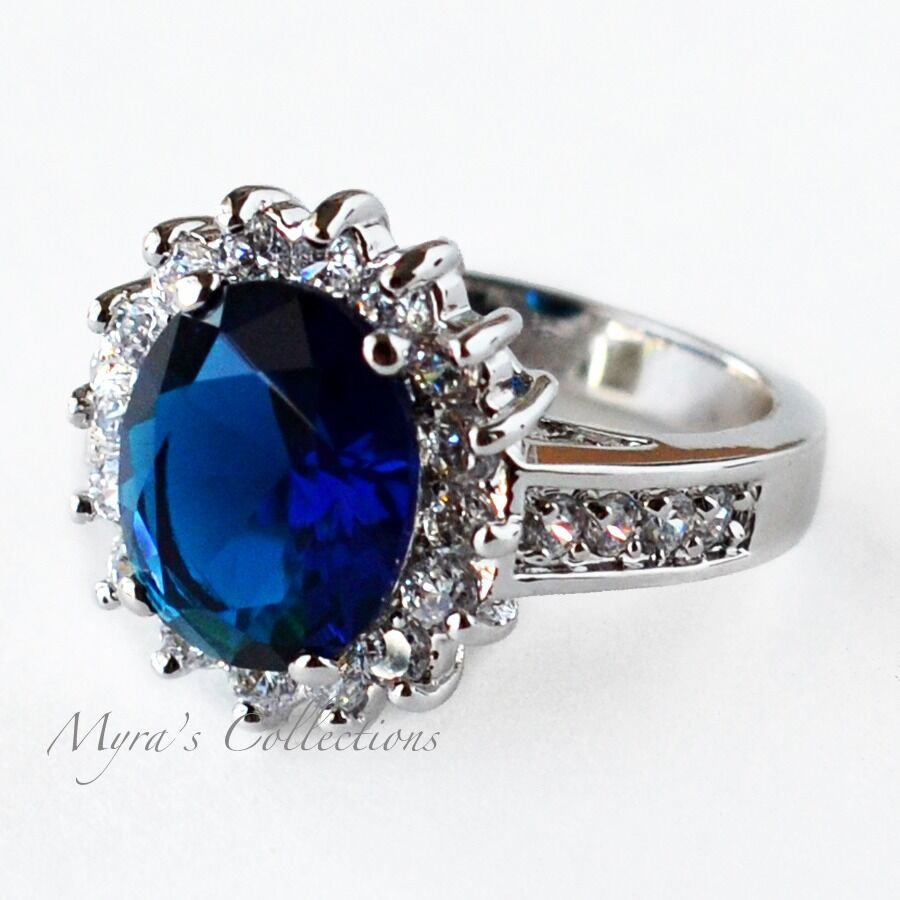 6 53 Carat Blue Montana Sapphire CZ Anniversary Wedding Engagement Ring Size