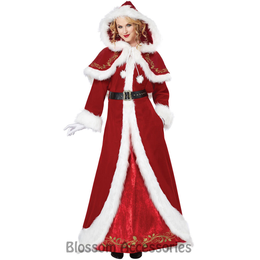 Cl deluxe mrs claus santa christmas long dress