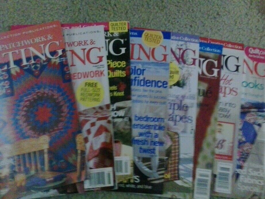Lot Of 8 Better Homes And Gardens American Patchwork