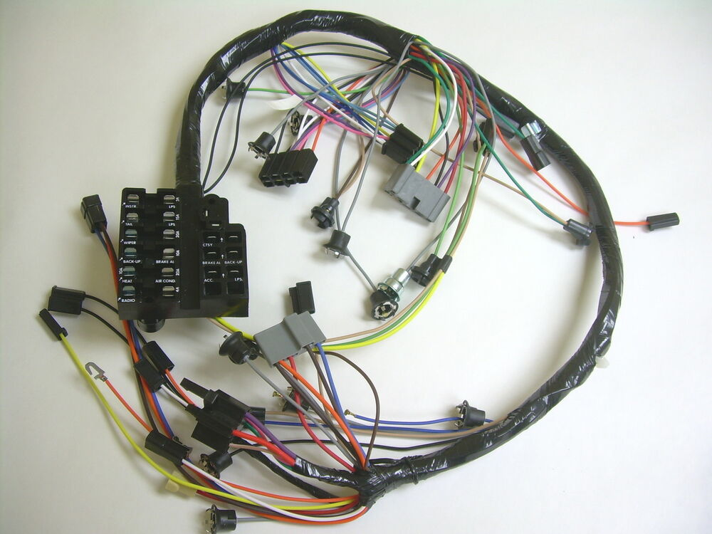 1962 Impala Under Dash Wiring Harness with Fusebox Manual ...