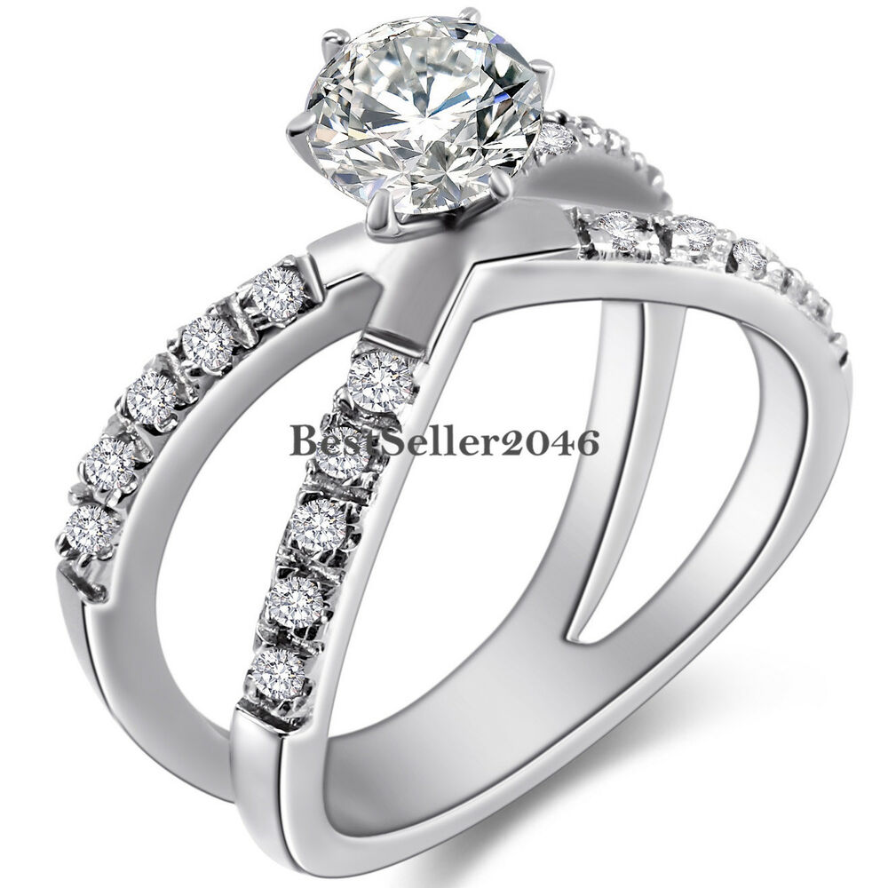 promise ring engagement ring and wedding ring set stainless steel infinity cubic zirconia promise 6829