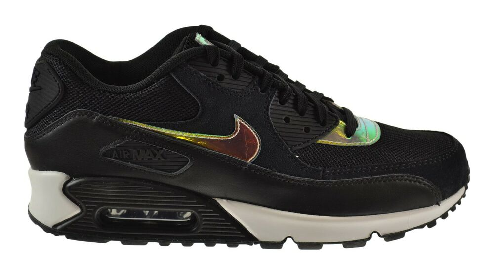 Nike Air Max 90 Premium Men\u0026#39;s Shoes Black/Black-Black-Ivory 333888-035 | eBay
