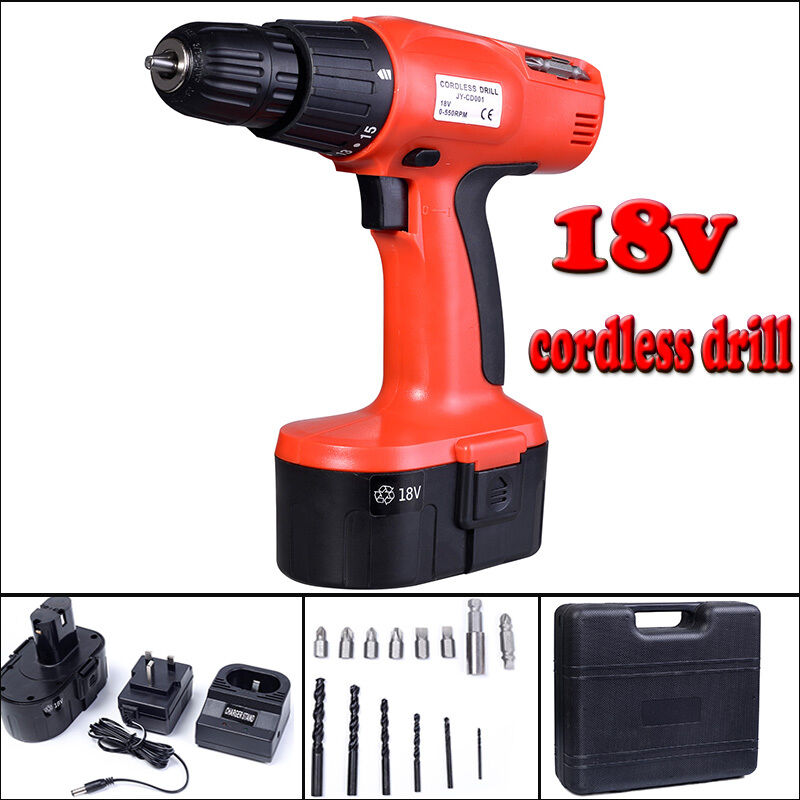 18v electric cordless drill driver kit drilling machine screwdriver w accessory ebay. Black Bedroom Furniture Sets. Home Design Ideas