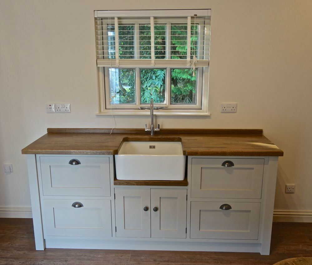 Freestanding Kitchen Furniture Cabinet: Painted Free Standing Kitchen Belfast Sink Unit Housing