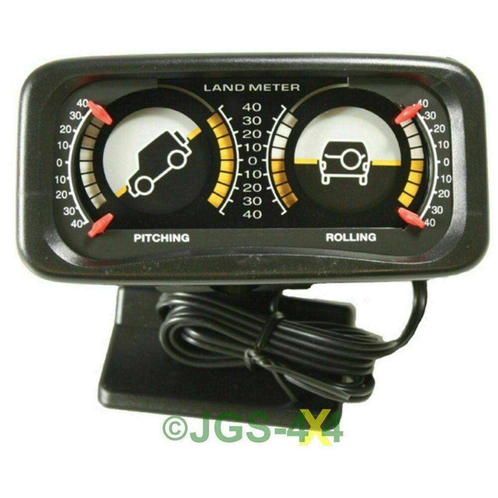 off road 4x4 inclinometer land gauge clinometer land rover pitch and roll meter ebay. Black Bedroom Furniture Sets. Home Design Ideas