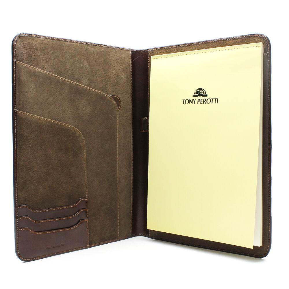 leather writing portfolio Maruse leather padfolio luxury leather writing portfolio, document holder, business case - made in italy (brown.