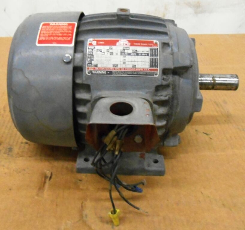 Dayton trivolt motor 3n749 3 hp 3510 rpm 20 230 460 for 20 hp single phase motor