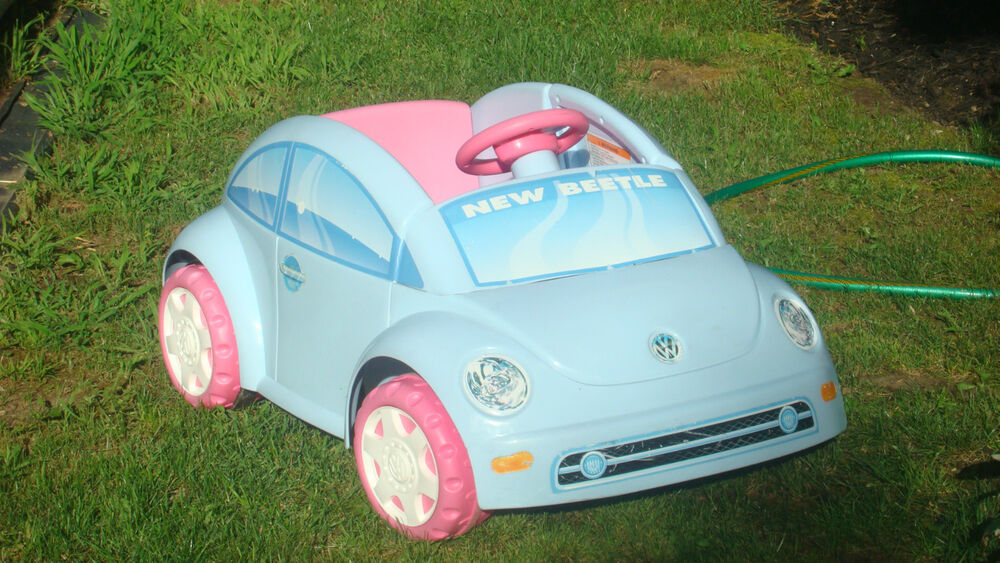FP POWER WHEELS VOLKSWAGEN VW BEETLE ~ POWDER BLUE w/6V BATTERY & CHARGER ~ EUC | eBay
