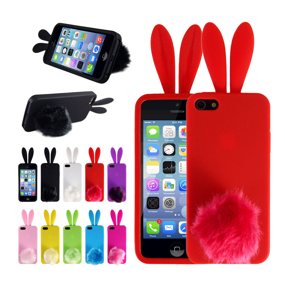 Squishy Cases For Iphone 5s : Soft CUTE Bunny Rabbit TPU Back Protector Phone Cover Case Skin For iPhone 5/5S eBay