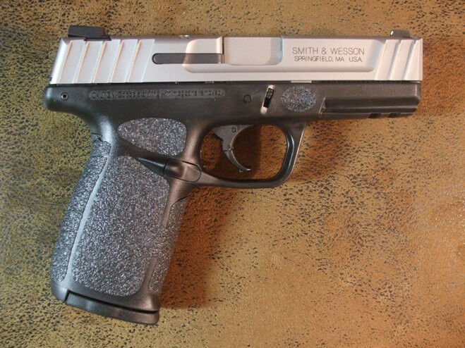 Black Textured Rubber Grips For The Smith Amp Wesson Sd9