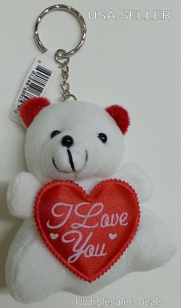 Soft White Teddy Bear 3 Quot With Red Heart Quot I Love You