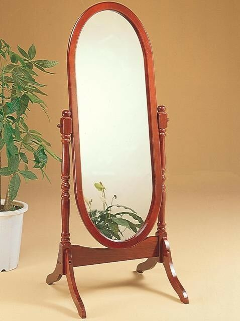 White swivel floor mirror