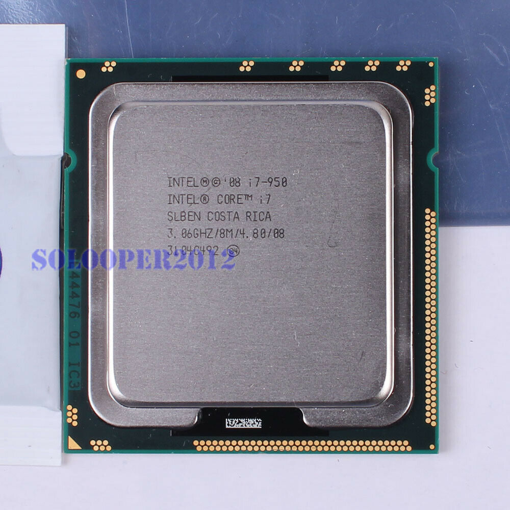 free shipping intel core i7 950 lga 1366 socket b slben cpu processor ghz 735858208451 ebay. Black Bedroom Furniture Sets. Home Design Ideas