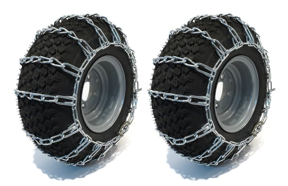 Pair 2 Link Tire Chains For Sears Craftsman Lawn Mower Tractor Rider Ebay