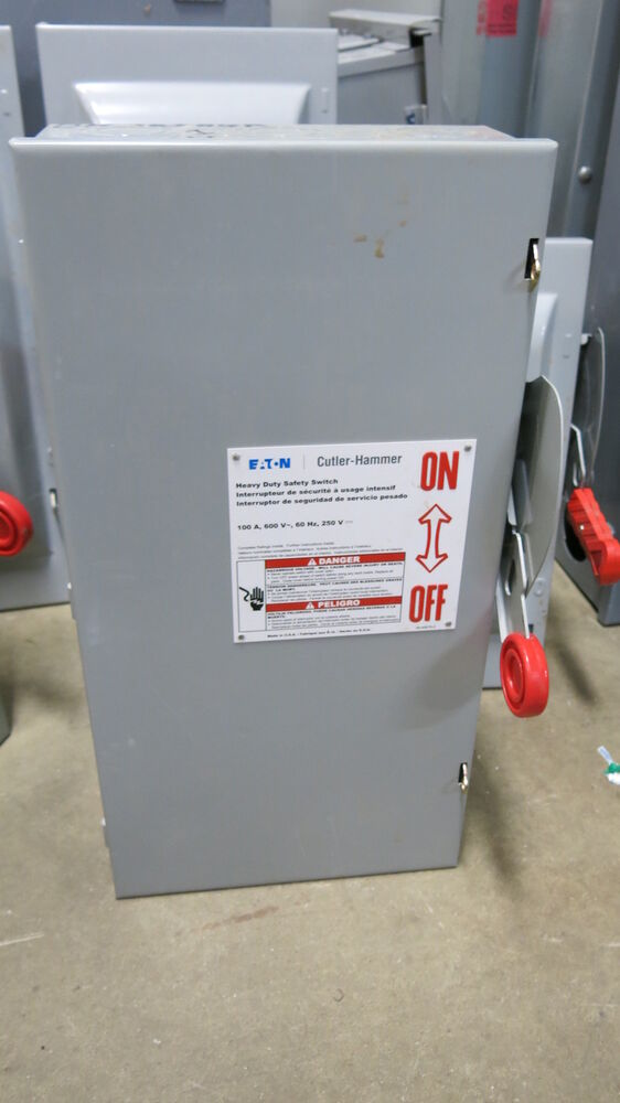 cutler hammer dh363ugk 100 amp 600 volt 3 pole disconnect ... 6 pole ge disconnects wiring diagram