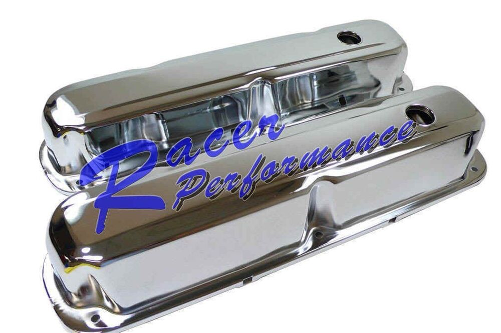 Chrome Mopar Dodge 273 318 340 360 Steel Valve Covers Ebay