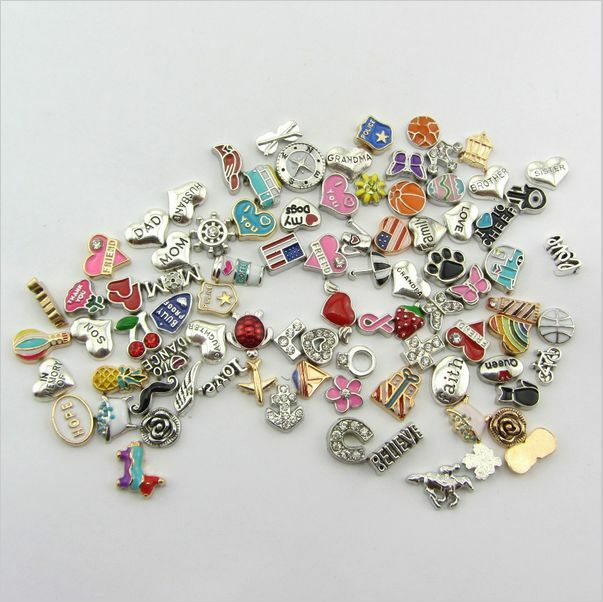 new wholesale 30pcs bulk lot floating charm for glass