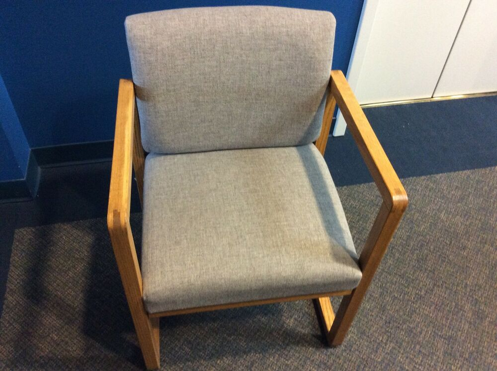 madison and lesro office chairs beige and tan wood and