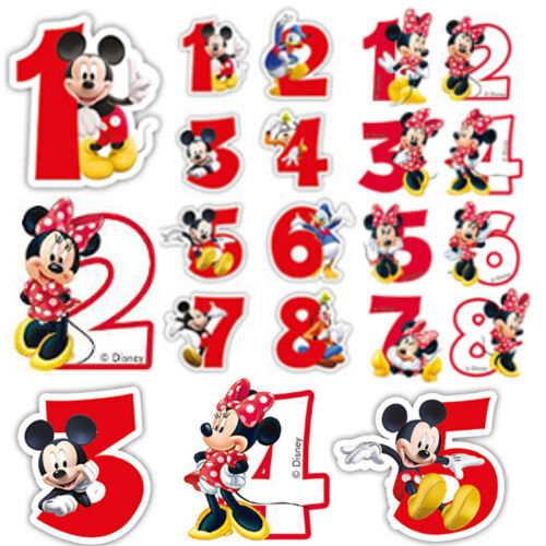 Amp mickey mouse happy birthday cake numbers boy girl party ebay
