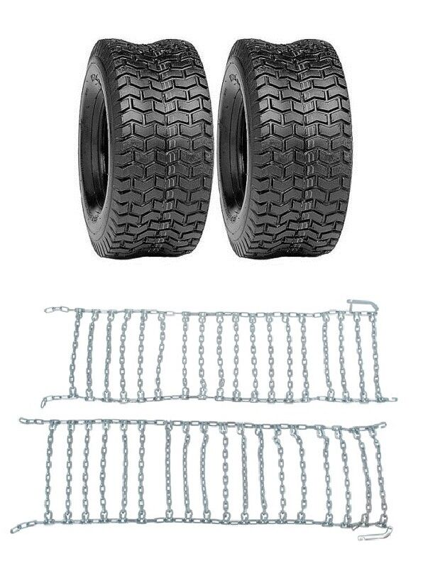2 New 16x6 50 8 Turf Tires Amp Tire Chains Sears Craftsman