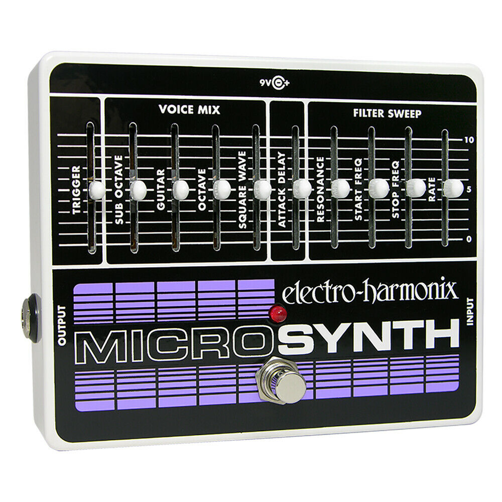 electro harmonix microsynth guitar effects micro synthesizer guitar effect pedal 683274010793 ebay. Black Bedroom Furniture Sets. Home Design Ideas