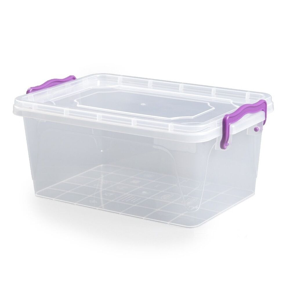 1 5l 1 5 Litre Clip Handle Plastic Clear Storage Food Box