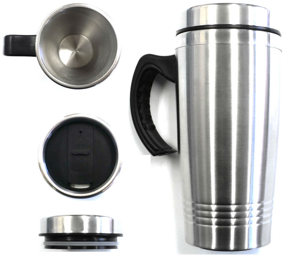 16oz Stainless Steel Coffee Cup With Handle Insulated