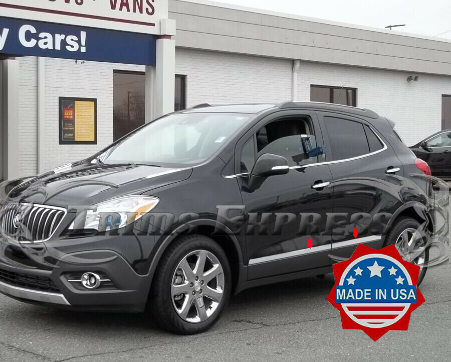2013 2017 Buick Encore 4pc Chrome Flat Lower Body Side