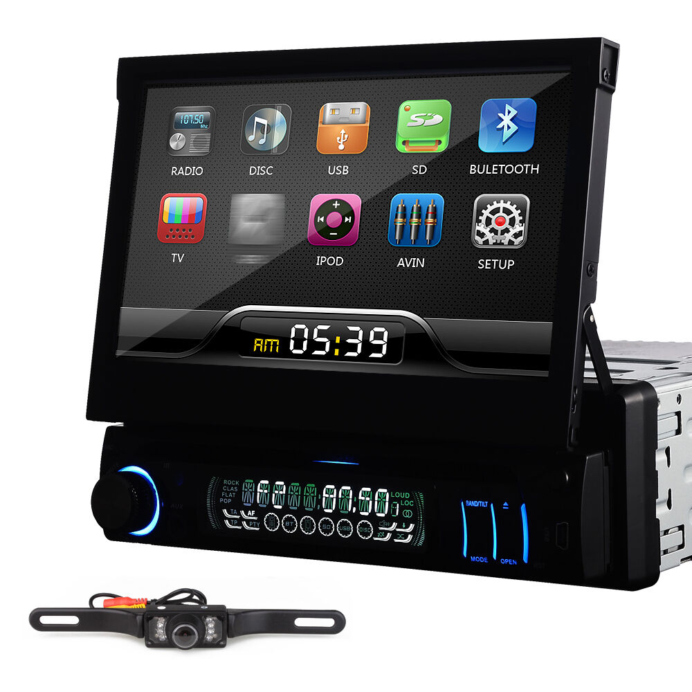 "7"" Touch Screen Single Din Car DVD CD Player Radio Stereo"