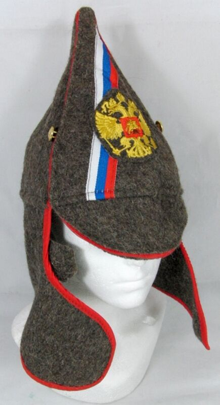Russian Hat Red Army Old Style Wool Budenovka Embroidered