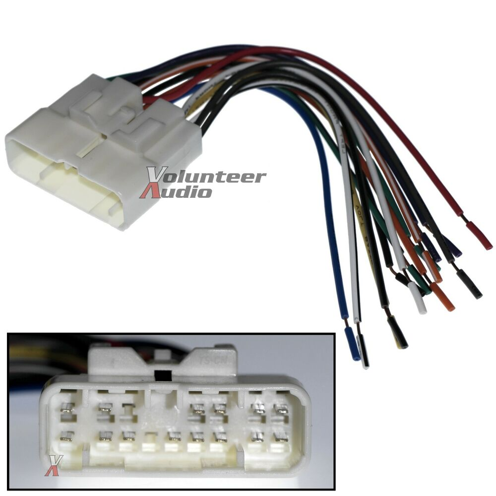 car stereo cd player wiring harness wire aftermarket radio ... car audio subwoofer wiring car audio installation wiring kits