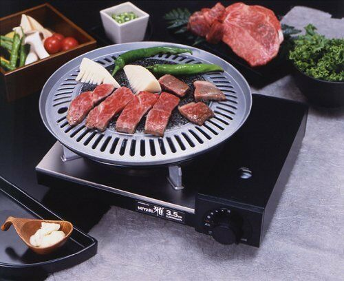 Korean Bbq Stone Grill Stovetop Barbecue Steak Chicken Ribs Pork Belly Grill Pan Ebay