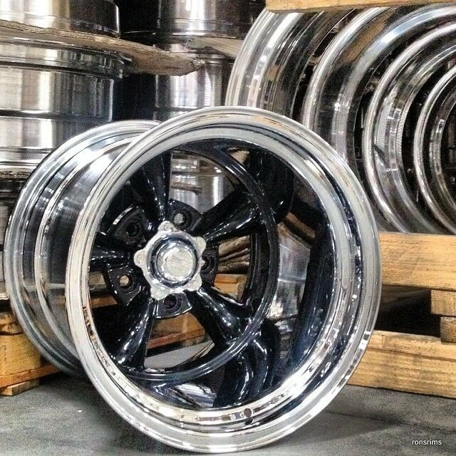 15x12 torq thrust d black custom built chev ford mopar for American classic wheels for sale
