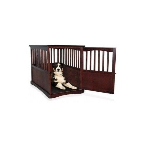 Large Dog Kennel Wooden Pet Cage Oversized Wood Crate Puppy Bed Table Furniture Ebay