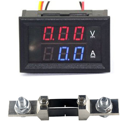 Dc Voltage Digital Panel Meters : Dc v a shunt voltage current panel meter digital