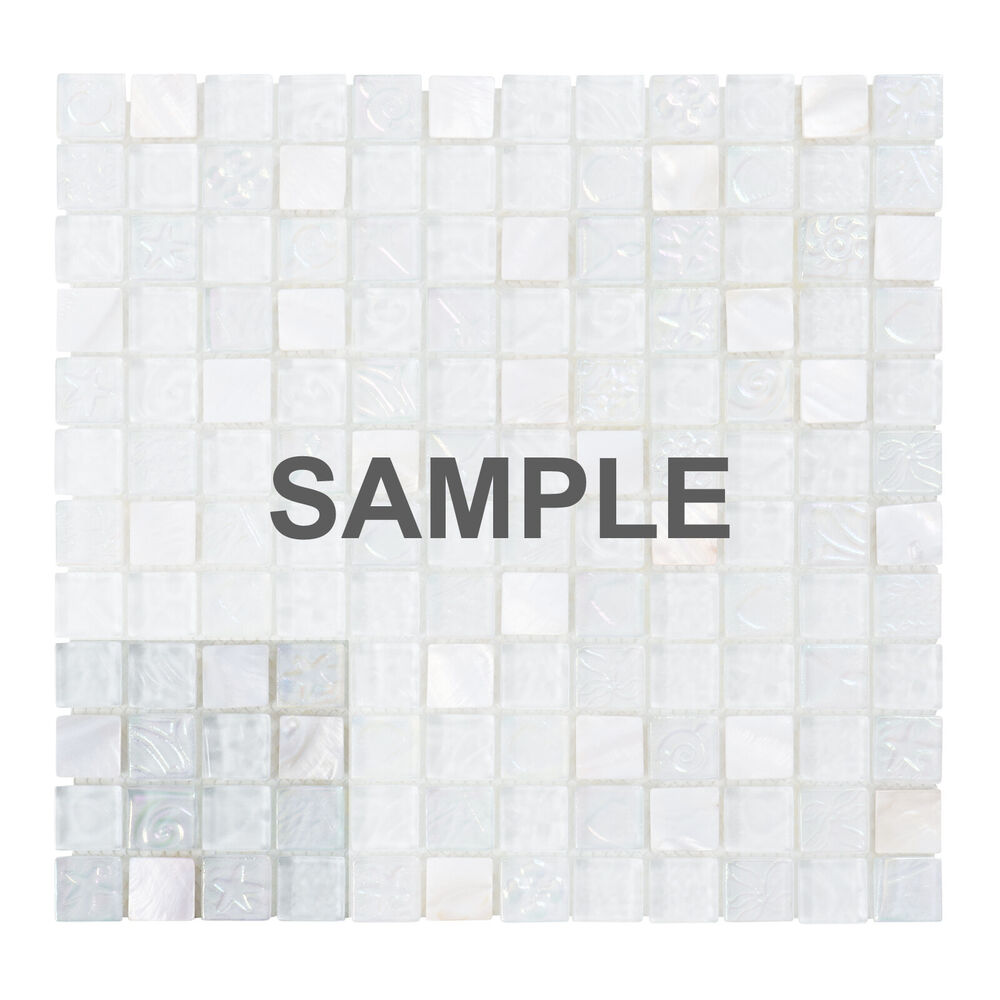 4x4 white mother of pearl sell iridescent glass mosaic for Glass instead of tiles in kitchen