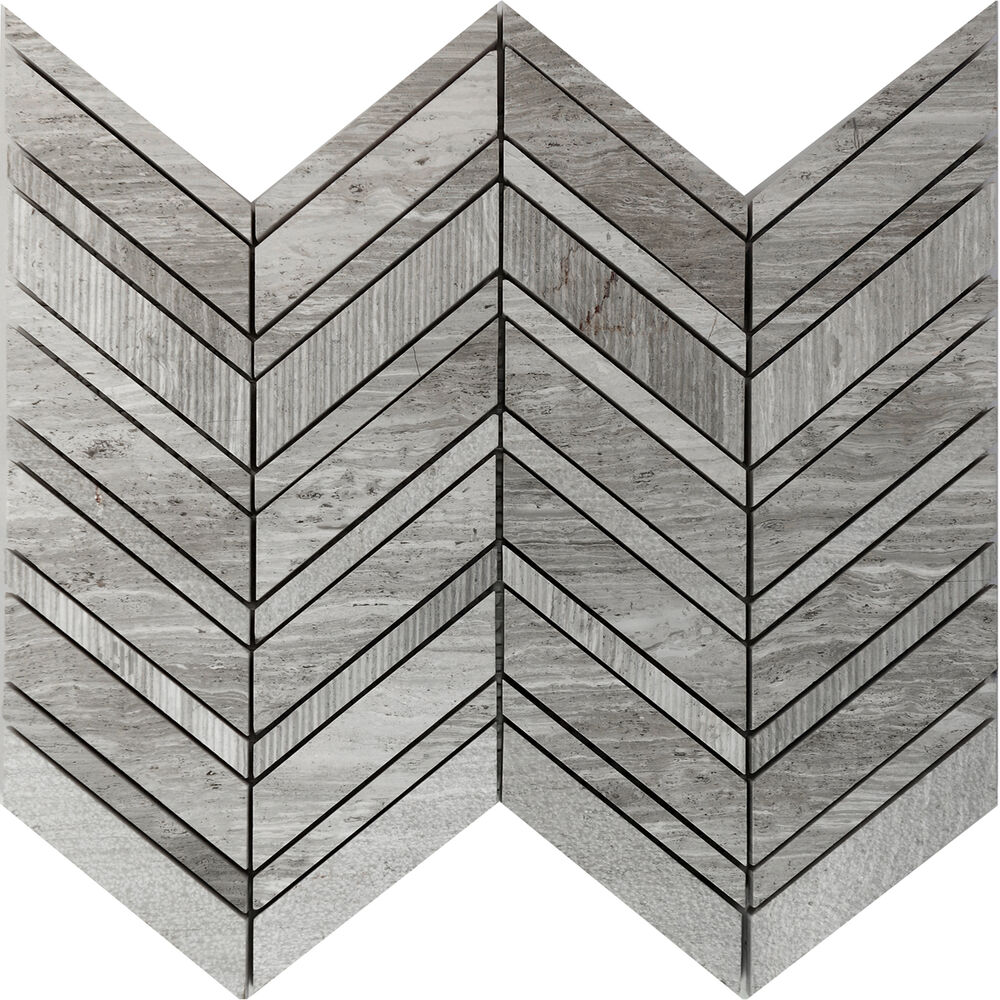 1sf Herringbone Chevron Textured Natural Stone Mosaic Tile